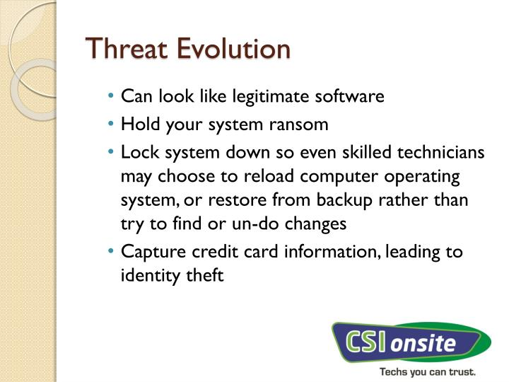Threat Evolution