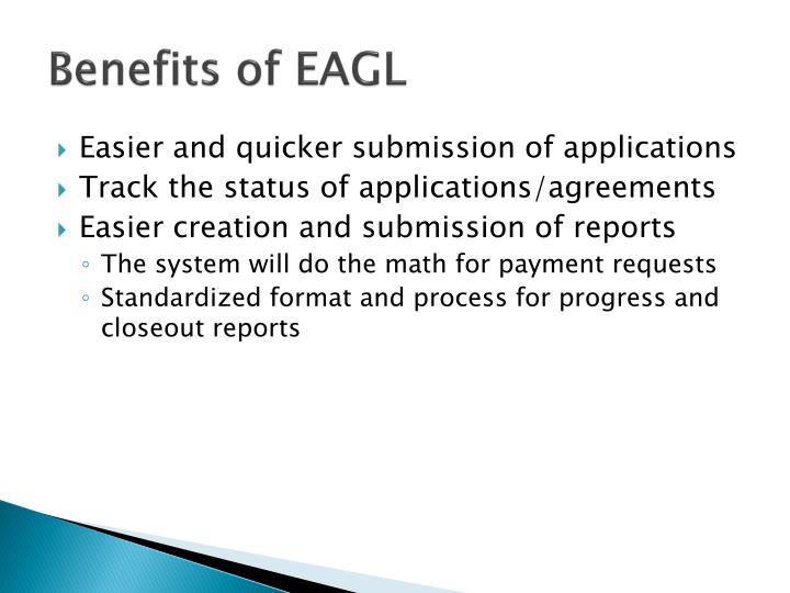 Benefits of EAGL