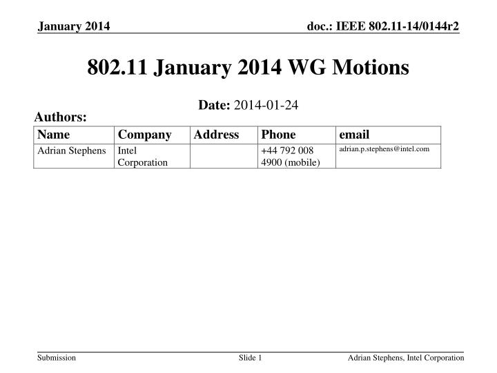 802 11 january 2014 wg motions