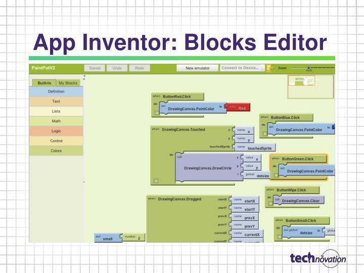 App Inventor: Blocks Editor