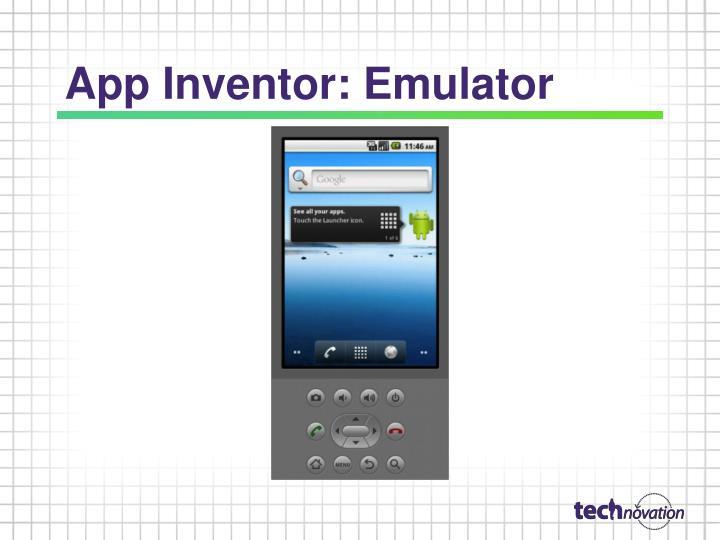 App Inventor: Emulator