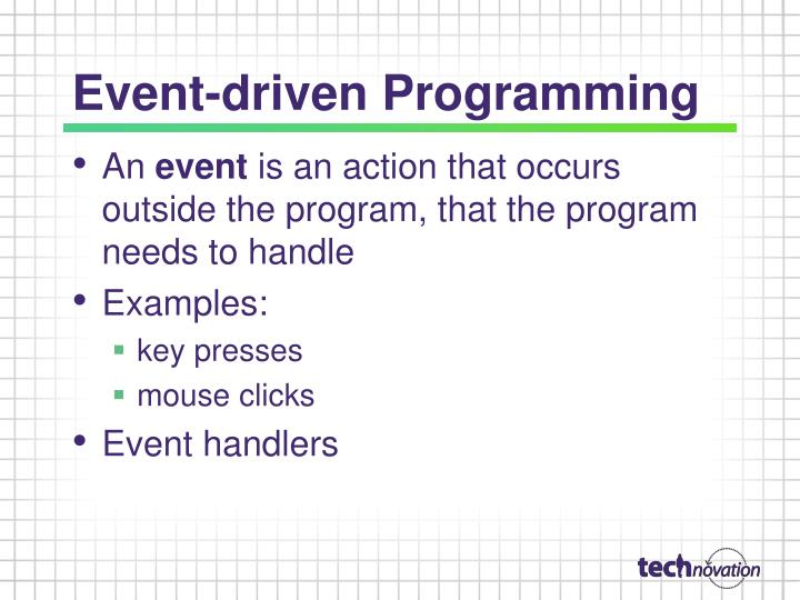Event-driven Programming
