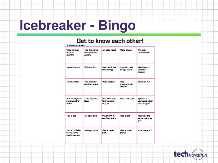 Icebreaker - Bingo