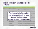 more project management tools