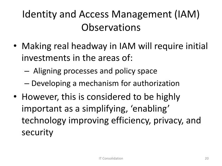 Identity and Access Management (IAM)