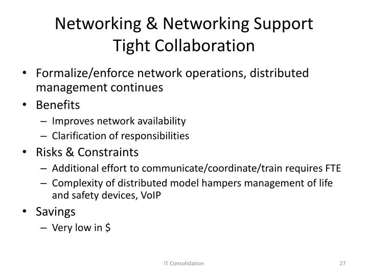 Networking & Networking Support
