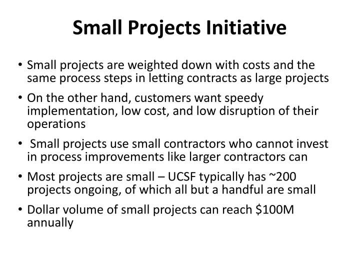 Small Projects Initiative