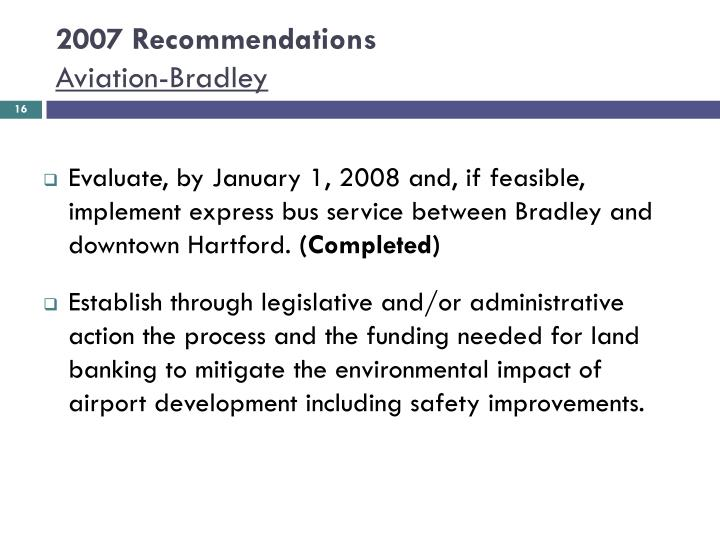 2007 Recommendations