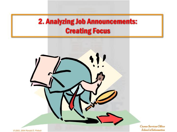 2. Analyzing Job Announcements:
