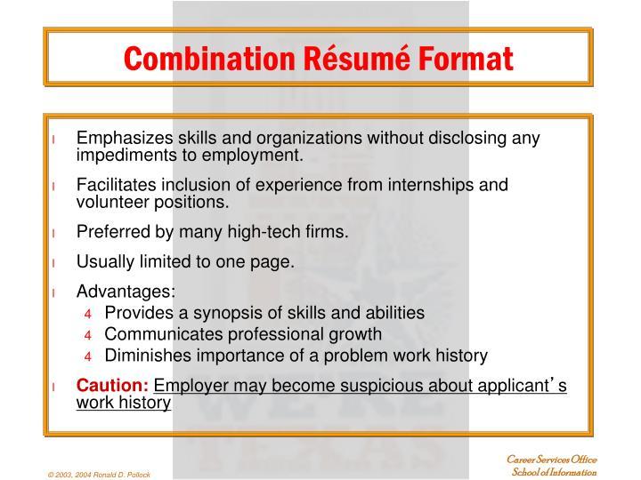 Combination Résumé Format