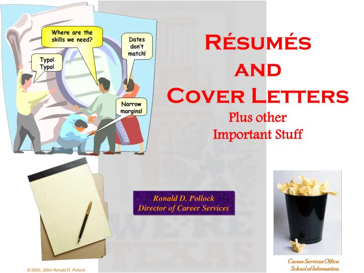 r sum s and cover letters plus other important stuff