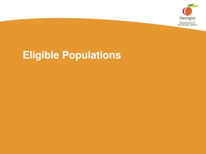 Eligible Populations