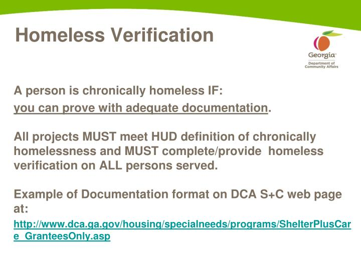 A person is chronically homeless IF: