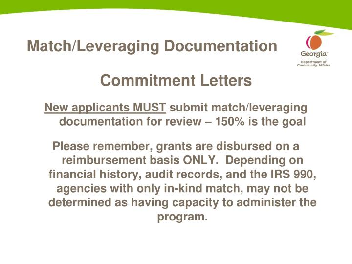 Match/Leveraging Documentation