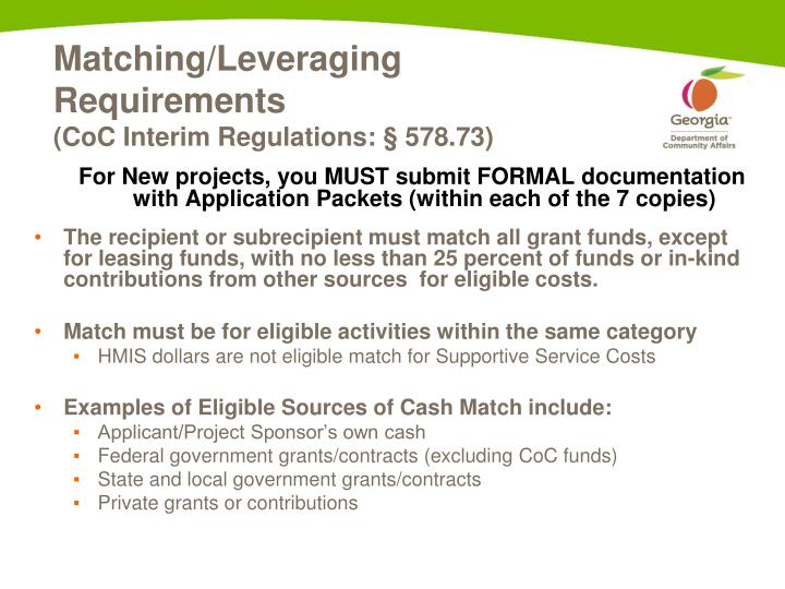 Matching/Leveraging Requirements