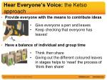 hear everyone s voice the ketso approach1