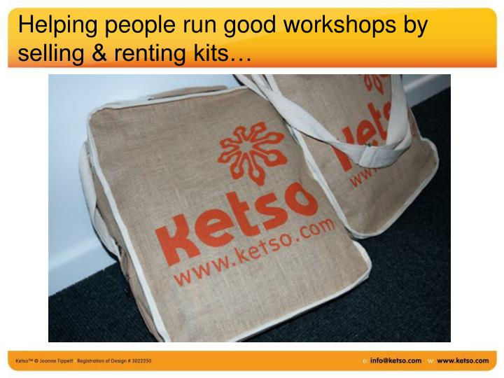 Helping people run good workshops by selling & renting kits…