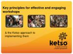 key principles for effective and engaging workshops