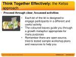 think together effectively the ketso approach