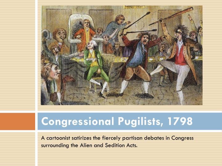 Congressional Pugilists, 1798