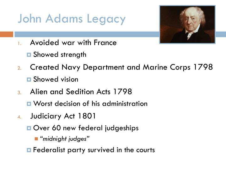 John Adams Legacy
