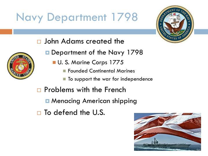Navy Department 1798