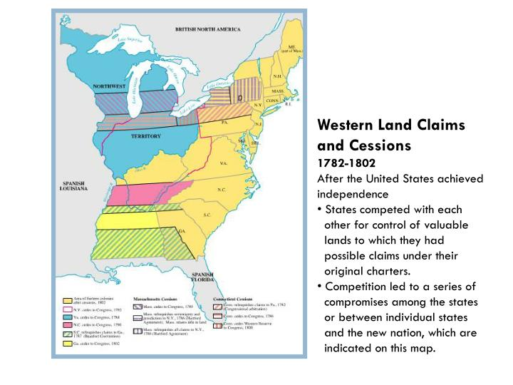 Western Land Claims and Cessions