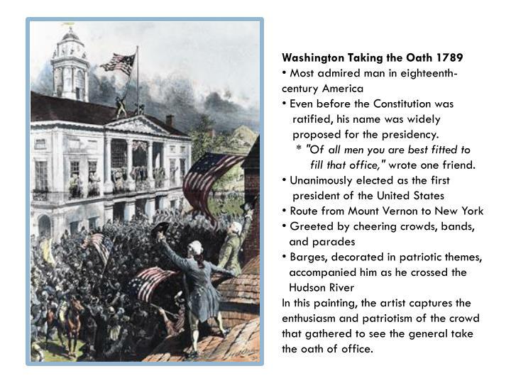 Washington Taking the Oath 1789