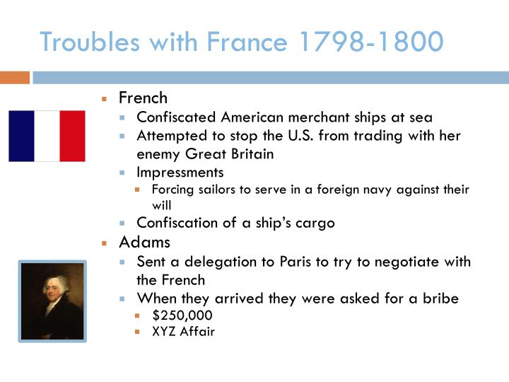 Troubles with France 1798-1800