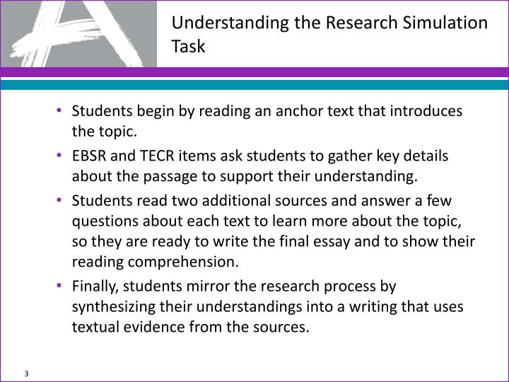 Understanding the research simulation task