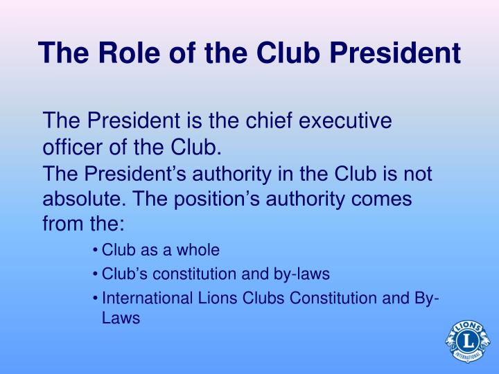 The Role of the Club President