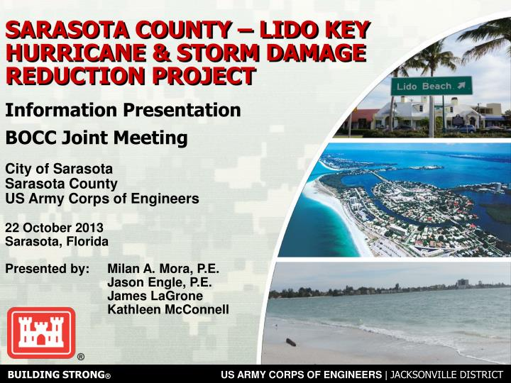 Sarasota county lido key hurricane storm damage reduction project