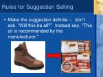 rules for suggestion selling1
