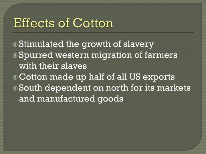 Effects of Cotton