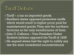 tariff debate