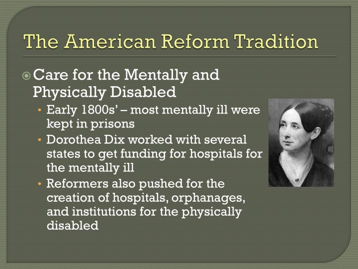 The American Reform Tradition
