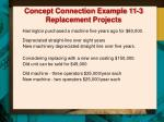 concept connection example 11 3 replacement projects