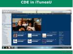 cde in itunesu