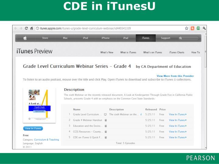 CDE in iTunesU