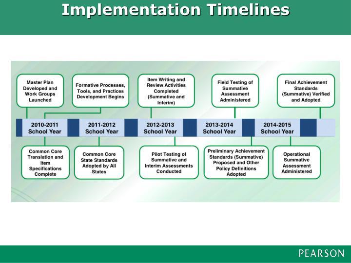 Implementation Timelines