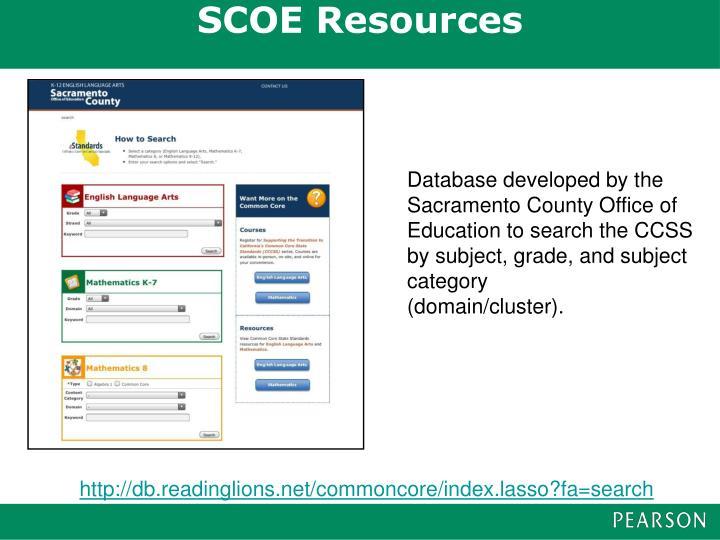 SCOE Resources