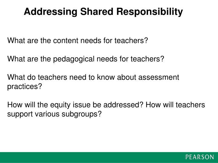 Addressing Shared Responsibility