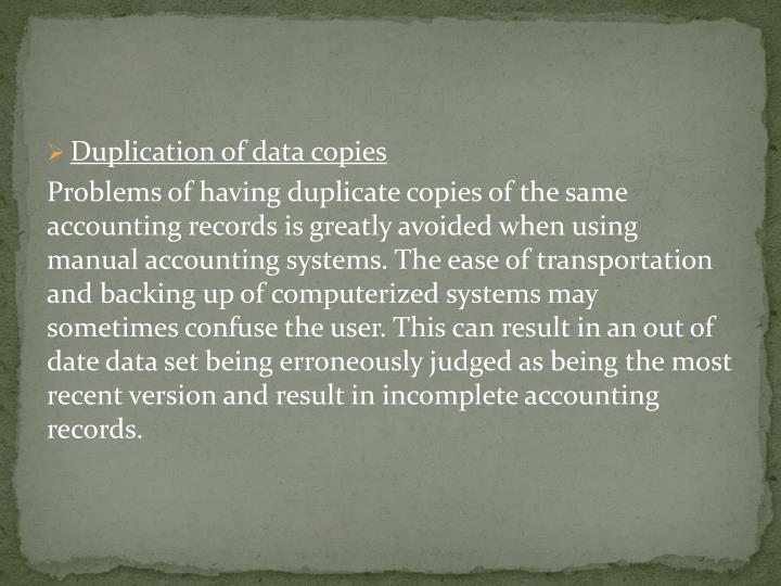 Duplication of data copies