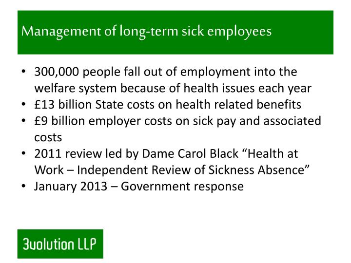 Management of long-term sick employees