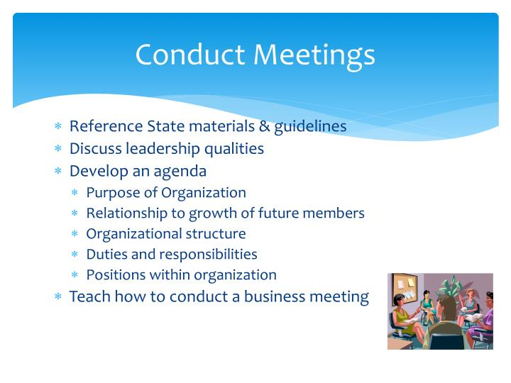 Conduct Meetings