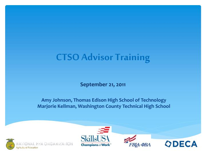 Ctso advisor training