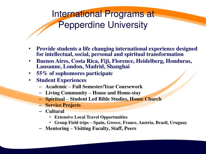 International Programs at