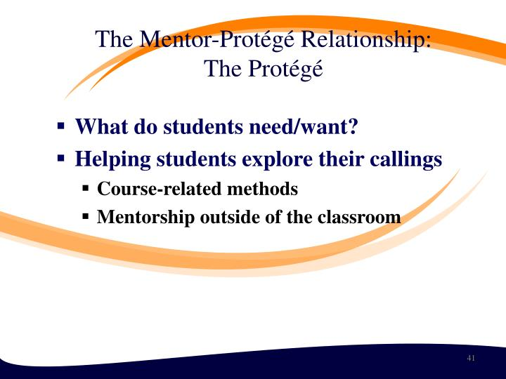 The Mentor-Protégé