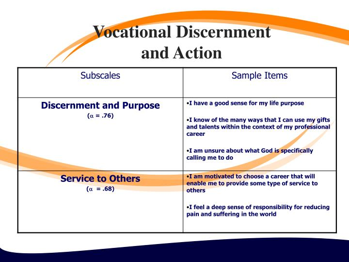 Vocational Discernment