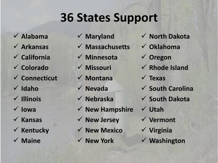 36 States Support